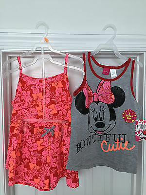 Minnie Mouse Girl's Pajamas ~ 3 Piece Set ~ Sizes 6X S & 7/8 M ~ New with Tags