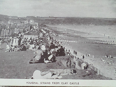Real Photo Postcard Youghal Strand From Clay Castle Cork Ireland