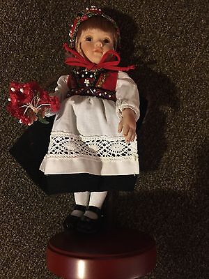 """Collectible doll Paulinette """"Isabelle Rose"""" LE 128 of 500 8"""" on stand"""