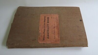 Antique Wells Fargo & Co's Express 1890 Statement Abstract Book Mission San Jose