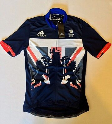 TEAM GB Cycling Jersey RIO 2016 Olympics Adidas Great Britain Rare BNWT XS - S