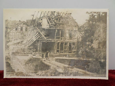 Wwii Real Photo Postcard Destroyed Building