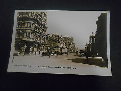 Western Australia.Perth.St Georges Terrace.RPPC