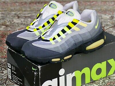 2e492f9521 DS 1995 OG Nike Air Max 95 Sz 13 Grey/Neon - original vintage cool ...