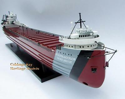 """SS Arthur M Anderson, Great Lakes Ship, Wooden  Model, , 42"""" Fully built, Beauty"""
