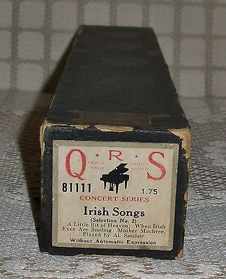 'IRISH SONGS' Concert Series,Selection No.2 Q.R.S. PIANOLA ROLL (81111)