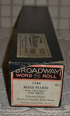 'ROSE-MARIE' BROADWAY PIANOLA WORD ROLL Fox Trot (1344)