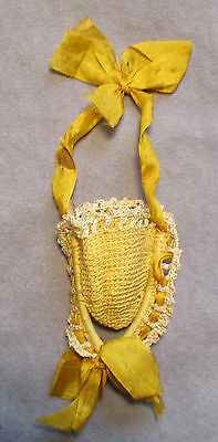 Antique - Victorian - Thimble Holder - Crocheted on Wishbone
