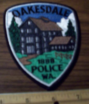 Police Patch's Oakesdale City Police Dept. Black  Thread