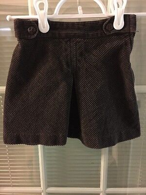 Janie And Jack Girls Brown Skirt Size 4T