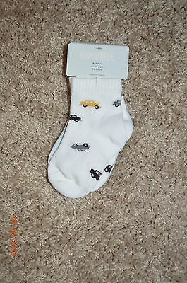 """Nwt Gymboree """"muscle Man"""" Two-Pack Socks Size 6-12 Months Spring 2009 Boys"""