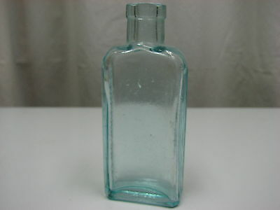 Antique Early 1900s 3 In 1 Oil Co Aqua Blue Glass Bottle Three in One Embossed
