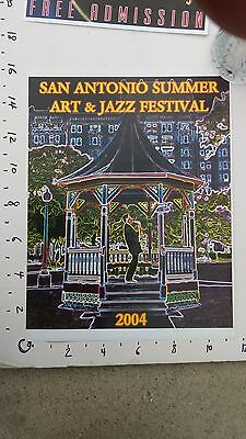 SAN ANTONIO SUMMER ART & JAZZ FESTIVAL, historic original LARGE poster, 2004