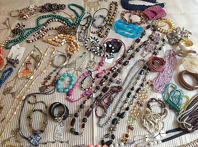 ref JED4) Estate Fashion Jewellery, Statement Necklaces, Ear Rings, Bangles