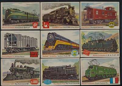 1955 Topps Rails and Sails Trains VG/VGEX avg low series 109 of 130 cards 39441