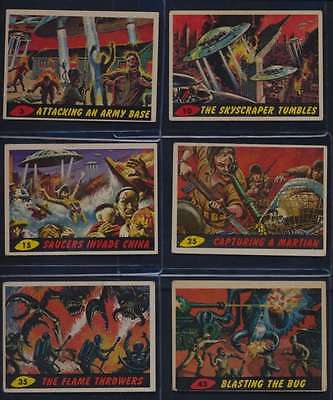 1962 Topps Bubbles Mars Attacks VG/VGEX avg lot of 10 different cards 39445