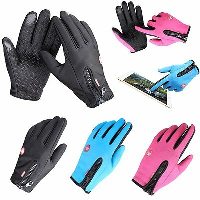 New Women Men Sports Warm Thermal Windproof Ski Snow Motorcycle Snowboard Gloves