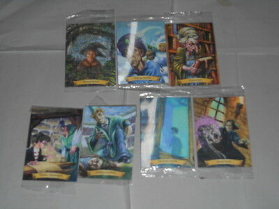 Lot of 7 Harry Potter Chocolate Frog Hologram Cards sealed in package