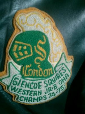 RARE London/ Glencoe Squires (London Knights) leather Jacket OHA