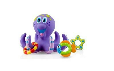 Octopus Floating Bath Toy Ring Toss Water Fun Child Kid Toddler Play Baby New