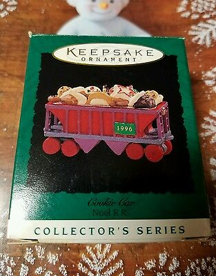 Hallmark ornament 1996 Cookie Car Noel R.R. 8th in series!