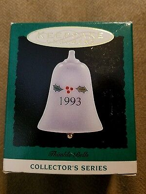 "Hallmark ""Thimble Bells"" Miniature Ornament 1993"