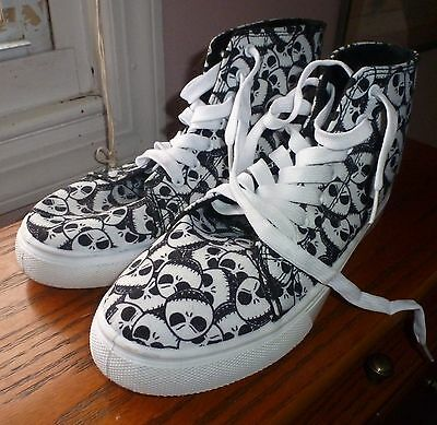 Nightmare Before Christmas Jack Face High Top Sneakers Size 8
