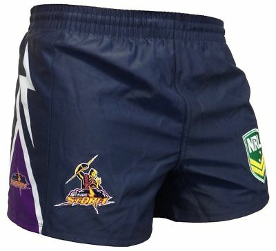 Melbourne Storm NRL Footy Shorts Adults Sizes S-4XL BNWT ISC