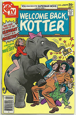 Welcome Back,Kotter # 6 TV Show memorabilia  (1977 DC Comics) VF+