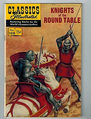 Classic Illustrated # 108 HRN #108 VF 1st Print Gilberton Publishing Knights S55