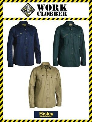 Bisley Long Sleeve Cotton Drill Shirt BS6433 NEW WITH TAGS!