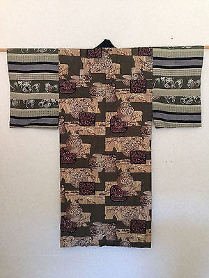 Men's Antique Decorative Japanese Kimono Costume One of a Kind Hand Made SALE