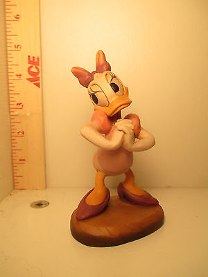 Disney Daisy Duck Wood Carved Figure by Anri Limited Edition