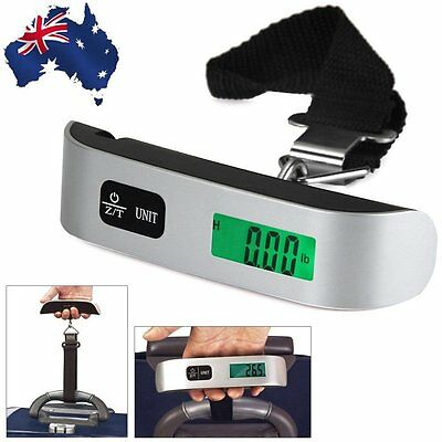 50kg/10g Portable LCD Digital Hanging Luggage Scale Travel Electronic Weight AU#