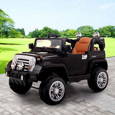 Jeep Style Kids Ride On Truck Jeep Car Rc Remote Control W Led