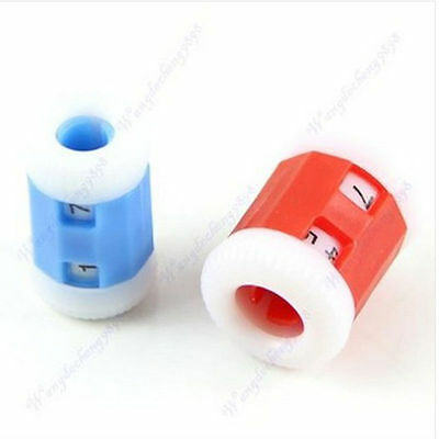 1 X Plastic Stitch Row Counter For Crochet-Knitting-Tatting,in 2 Sizes/2 Colours