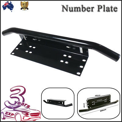 Bullbar Frame Mounting Bracket Silver Light Bar Antenne UHF Holder Number Plate