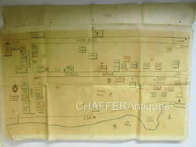 WW2 Soldier's Hand Drawn Map of British Army Base REME Egypt