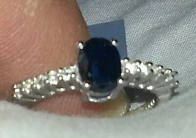 NEW!!!  Gorgeous Himalayan Kyanite & White Topaz in Sterling Silver. Size 7