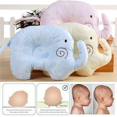 Newborn Infant Baby Foam Memory Pillows Prevent Flat Head Anti-Roll Neck Support