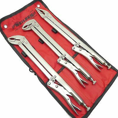LOCKING PLIER SET by NEILSEN TOOLS Extra Long Reach Vice Grip Clamp Length 375mm