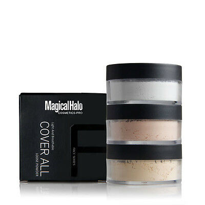 3Color Face Translucent Smooth Foundation Waterproof Loose Finish Powder Makeup~