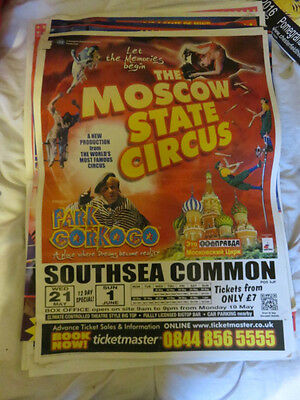 Large Moscow State Circus Poster Southend