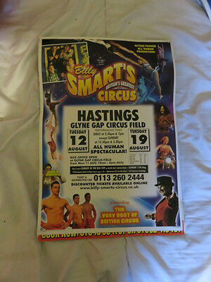 Billy Smart's Circus Poster Hastings