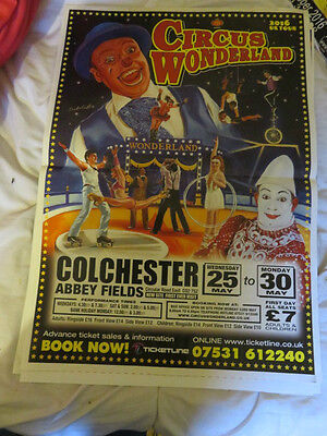 Large Circus Wonderland  Circus Poster Colchester