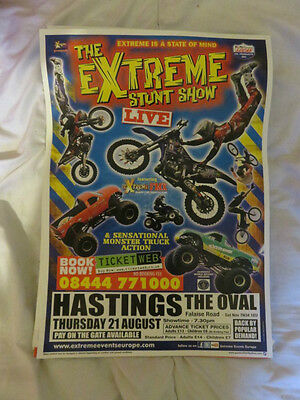 Extreme Stunt Show Circus Poster Hastings