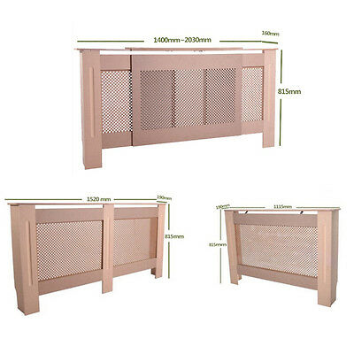 Radiator Cover MDF Wood Wall Cabinet Shelf Modern Home Furniture UnPainted Large