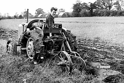 Photo  Taken From A 1960's Mage Of Ploughing With A David Brown Tractor