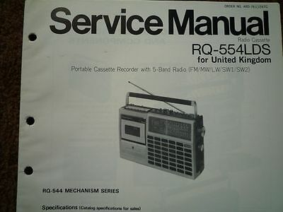 PANASONIC RQ-554LDS Radio Cassette Recorder Service manual wiring parts diagram