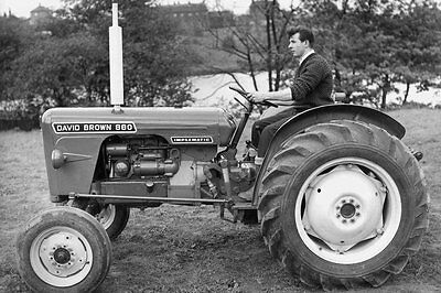 Photo  Taken From A 1960's Image Of A David Brown Tractor Model 880